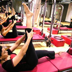 Group Doing Pilates