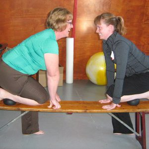 Kathleen Teaching A Group Pilates Class